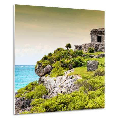 ¡Viva Mexico! Square Collection - Ancient Mayan Fortress in Riviera Maya III - Tulum-Philippe Hugonnard-Metal Print