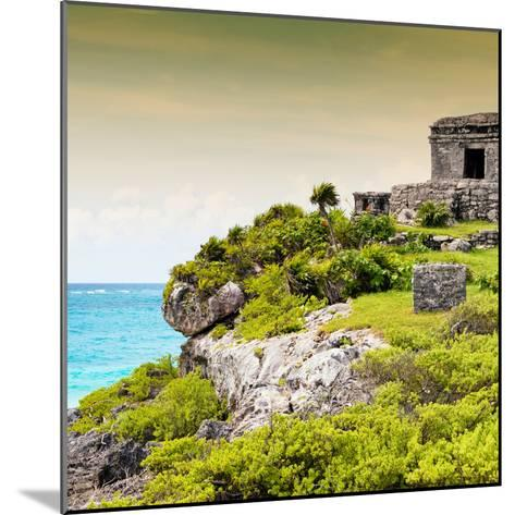 ¡Viva Mexico! Square Collection - Ancient Mayan Fortress in Riviera Maya III - Tulum-Philippe Hugonnard-Mounted Photographic Print