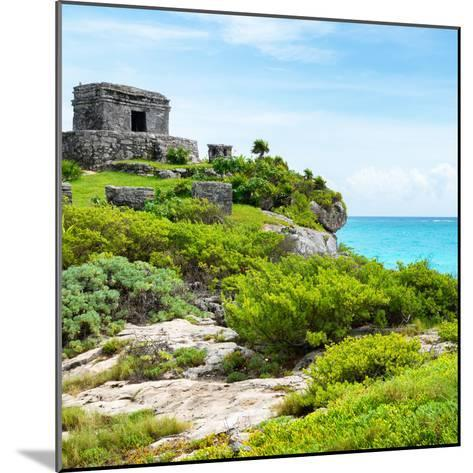 ¡Viva Mexico! Square Collection - Ancient Mayan Fortress in Riviera Maya IV - Tulum-Philippe Hugonnard-Mounted Photographic Print