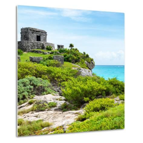 ¡Viva Mexico! Square Collection - Ancient Mayan Fortress in Riviera Maya IV - Tulum-Philippe Hugonnard-Metal Print