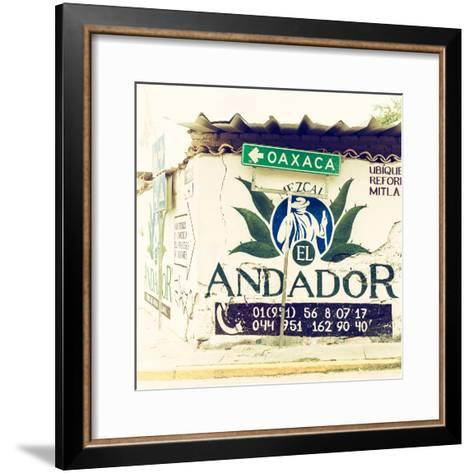 ¡Viva Mexico! Square Collection - Oaxaca Sign II-Philippe Hugonnard-Framed Art Print