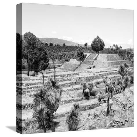 ¡Viva Mexico! Square Collection - Pyramid of Cantona Archaeological Ruins II-Philippe Hugonnard-Stretched Canvas Print