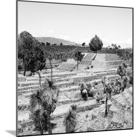 ¡Viva Mexico! Square Collection - Pyramid of Cantona Archaeological Ruins II-Philippe Hugonnard-Mounted Photographic Print