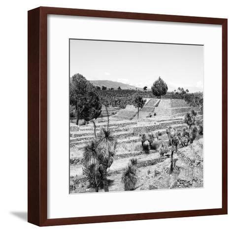 ¡Viva Mexico! Square Collection - Pyramid of Cantona Archaeological Ruins II-Philippe Hugonnard-Framed Art Print