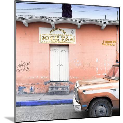 "¡Viva Mexico! Square Collection - ""5 de febrero"" Coral Wall-Philippe Hugonnard-Mounted Photographic Print"