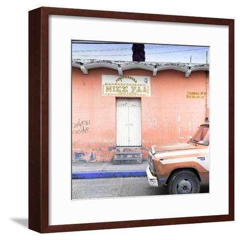"¡Viva Mexico! Square Collection - ""5 de febrero"" Coral Wall-Philippe Hugonnard-Framed Art Print"
