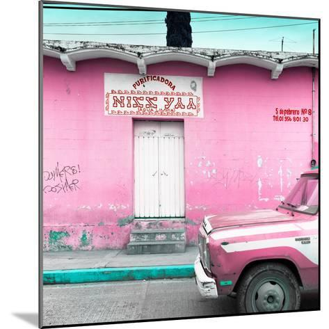"""¡Viva Mexico! Square Collection - """"5 de febrero"""" Pink Wall-Philippe Hugonnard-Mounted Photographic Print"""