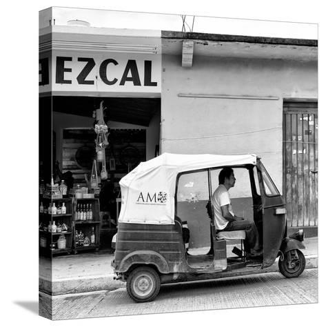 ¡Viva Mexico! Square Collection - Red Tuk Tuk II-Philippe Hugonnard-Stretched Canvas Print