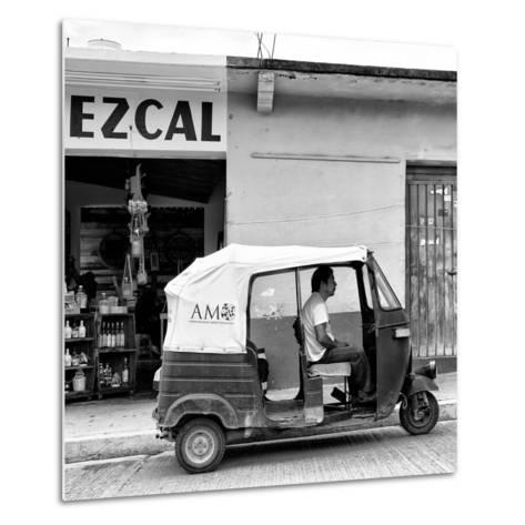 ¡Viva Mexico! Square Collection - Red Tuk Tuk II-Philippe Hugonnard-Metal Print