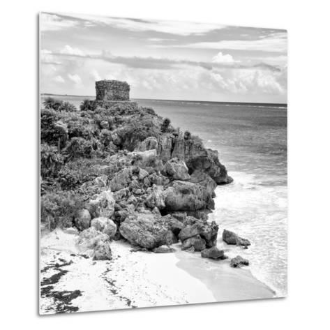 ¡Viva Mexico! Square Collection - Tulum Ruins along Caribbean Coastline VII-Philippe Hugonnard-Metal Print