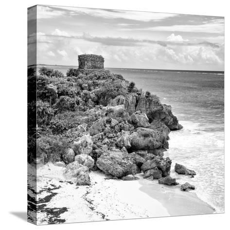 ¡Viva Mexico! Square Collection - Tulum Ruins along Caribbean Coastline VII-Philippe Hugonnard-Stretched Canvas Print