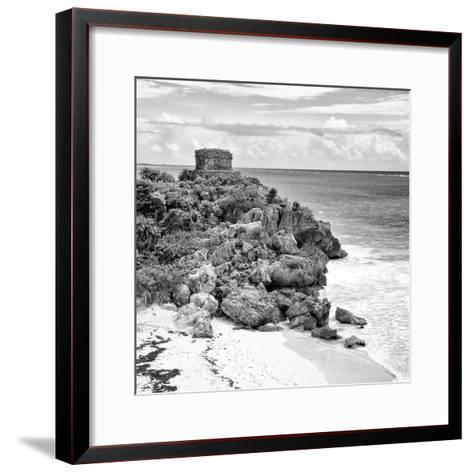 ¡Viva Mexico! Square Collection - Tulum Ruins along Caribbean Coastline VII-Philippe Hugonnard-Framed Art Print
