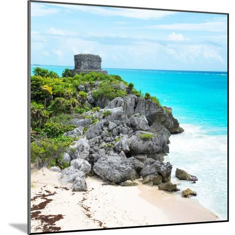 ¡Viva Mexico! Square Collection - Tulum Ruins along Caribbean Coastline VI-Philippe Hugonnard-Mounted Photographic Print