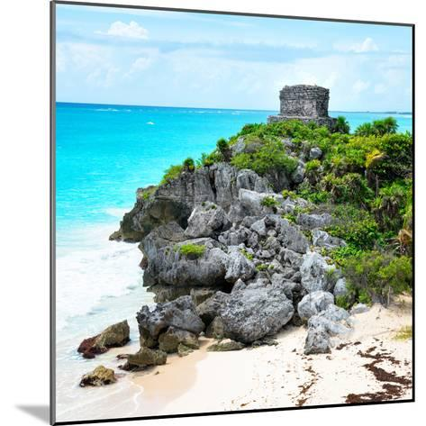 ¡Viva Mexico! Square Collection - Tulum Ruins along Caribbean Coastline IX-Philippe Hugonnard-Mounted Photographic Print