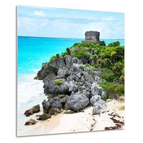 ¡Viva Mexico! Square Collection - Tulum Ruins along Caribbean Coastline IX-Philippe Hugonnard-Metal Print