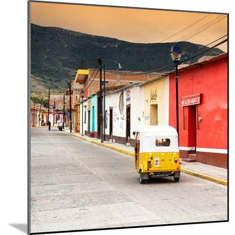?Viva Mexico! Square Collection - Mexican Street with Tuk Tuk at Sunset-Philippe Hugonnard-Mounted Photographic Print