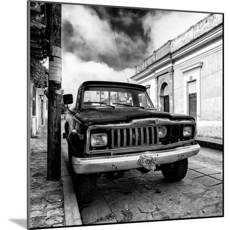 ¡Viva Mexico! Square Collection - Old Jeep in the street of San Cristobal I-Philippe Hugonnard-Mounted Photographic Print