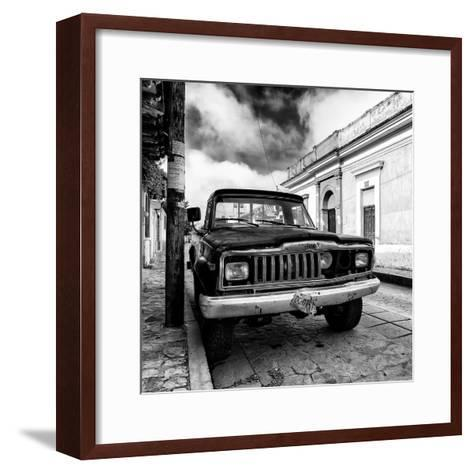 ¡Viva Mexico! Square Collection - Old Jeep in the street of San Cristobal I-Philippe Hugonnard-Framed Art Print