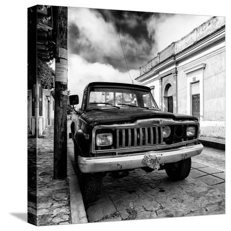 ¡Viva Mexico! Square Collection - Old Jeep in the street of San Cristobal I-Philippe Hugonnard-Stretched Canvas Print
