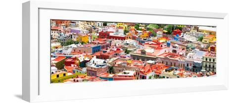 ?Viva Mexico! Panoramic Collection - Guanajuato Colorful Cityscape VII-Philippe Hugonnard-Framed Art Print