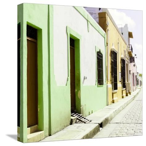 ¡Viva Mexico! Square Collection - Coloful Street III-Philippe Hugonnard-Stretched Canvas Print