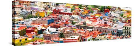 ?Viva Mexico! Panoramic Collection - Guanajuato Colorful Cityscape VII-Philippe Hugonnard-Stretched Canvas Print