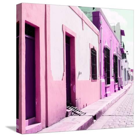 ¡Viva Mexico! Square Collection - Coloful Street II-Philippe Hugonnard-Stretched Canvas Print