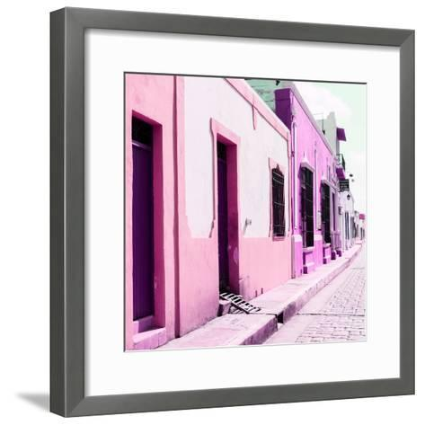 ¡Viva Mexico! Square Collection - Coloful Street II-Philippe Hugonnard-Framed Art Print