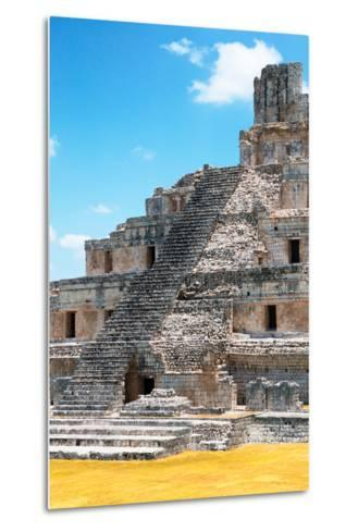?Viva Mexico! Collection - Maya Archaeological Site with Fall Colors V - Edzna Campeche-Philippe Hugonnard-Metal Print