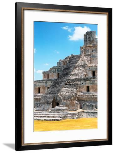 ?Viva Mexico! Collection - Maya Archaeological Site with Fall Colors V - Edzna Campeche-Philippe Hugonnard-Framed Art Print