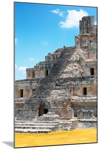 ?Viva Mexico! Collection - Maya Archaeological Site with Fall Colors V - Edzna Campeche-Philippe Hugonnard-Mounted Photographic Print