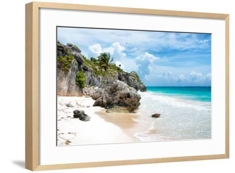 ¡Viva Mexico! Collection - Caribbean Beach II-Philippe Hugonnard-Framed Art Print