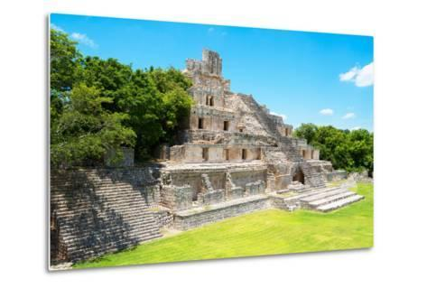 ?Viva Mexico! Collection - Maya Archaeological Site VI - Edzna Campeche-Philippe Hugonnard-Metal Print