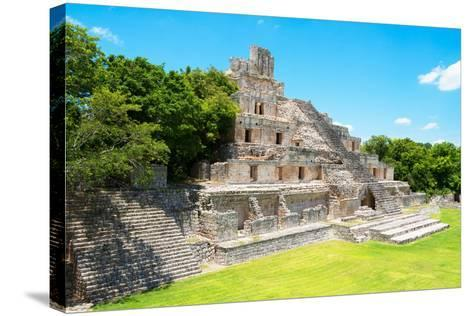 ?Viva Mexico! Collection - Maya Archaeological Site VI - Edzna Campeche-Philippe Hugonnard-Stretched Canvas Print