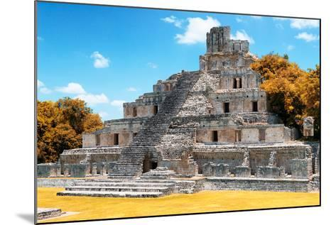 ?Viva Mexico! Collection - Maya Archaeological Site with Fall Colors IV - Edzna Campeche-Philippe Hugonnard-Mounted Photographic Print