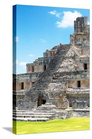?Viva Mexico! Collection - Maya Archaeological Site V - Edzna Campeche-Philippe Hugonnard-Stretched Canvas Print