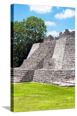 ?Viva Mexico! Collection - Maya Archaeological Site III - Edzna Campeche-Philippe Hugonnard-Stretched Canvas Print