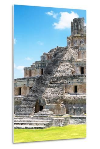 ?Viva Mexico! Collection - Maya Archaeological Site V - Edzna Campeche-Philippe Hugonnard-Metal Print