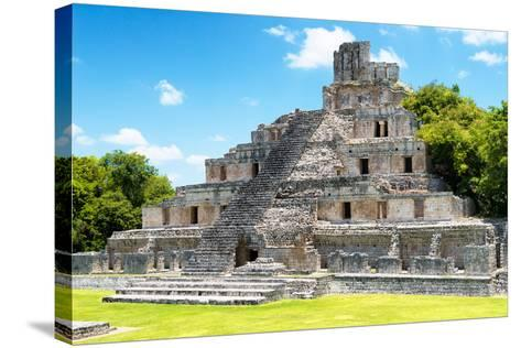 ?Viva Mexico! Collection - Maya Archaeological Site IV - Edzna Campeche-Philippe Hugonnard-Stretched Canvas Print