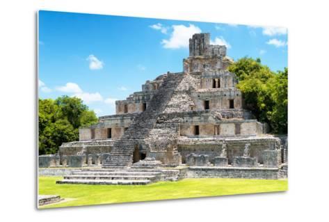 ?Viva Mexico! Collection - Maya Archaeological Site IV - Edzna Campeche-Philippe Hugonnard-Metal Print