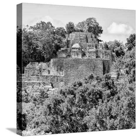 ¡Viva Mexico! Square Collection - Mayan Pyramid of Calakmul IV-Philippe Hugonnard-Stretched Canvas Print
