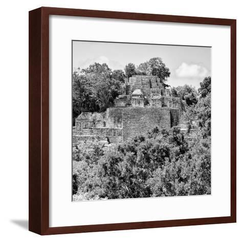 ¡Viva Mexico! Square Collection - Mayan Pyramid of Calakmul IV-Philippe Hugonnard-Framed Art Print