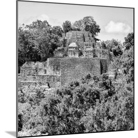 ¡Viva Mexico! Square Collection - Mayan Pyramid of Calakmul IV-Philippe Hugonnard-Mounted Photographic Print