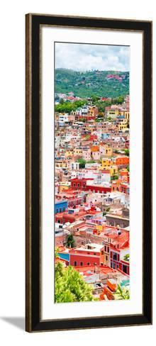 ¡Viva Mexico! Panoramic Collection - Guanajuato Colorful Cityscape XIII-Philippe Hugonnard-Framed Art Print