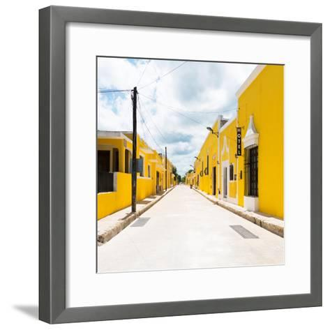 ¡Viva Mexico! Square Collection - The Yellow City II - Izamal-Philippe Hugonnard-Framed Art Print