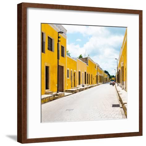 ¡Viva Mexico! Square Collection - The Yellow City III - Izamal-Philippe Hugonnard-Framed Art Print