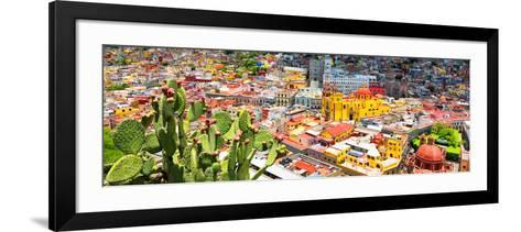 ¡Viva Mexico! Panoramic Collection - Guanajuato Colorful Cityscape XIV-Philippe Hugonnard-Framed Art Print
