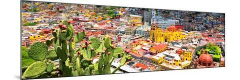¡Viva Mexico! Panoramic Collection - Guanajuato Colorful Cityscape XIV-Philippe Hugonnard-Mounted Photographic Print
