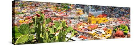 ¡Viva Mexico! Panoramic Collection - Guanajuato Colorful Cityscape XIV-Philippe Hugonnard-Stretched Canvas Print