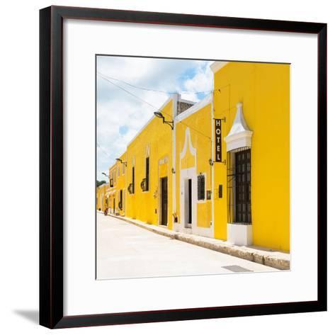 ¡Viva Mexico! Square Collection - The Yellow City - Izamal-Philippe Hugonnard-Framed Art Print